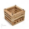 Wooden plant basket square